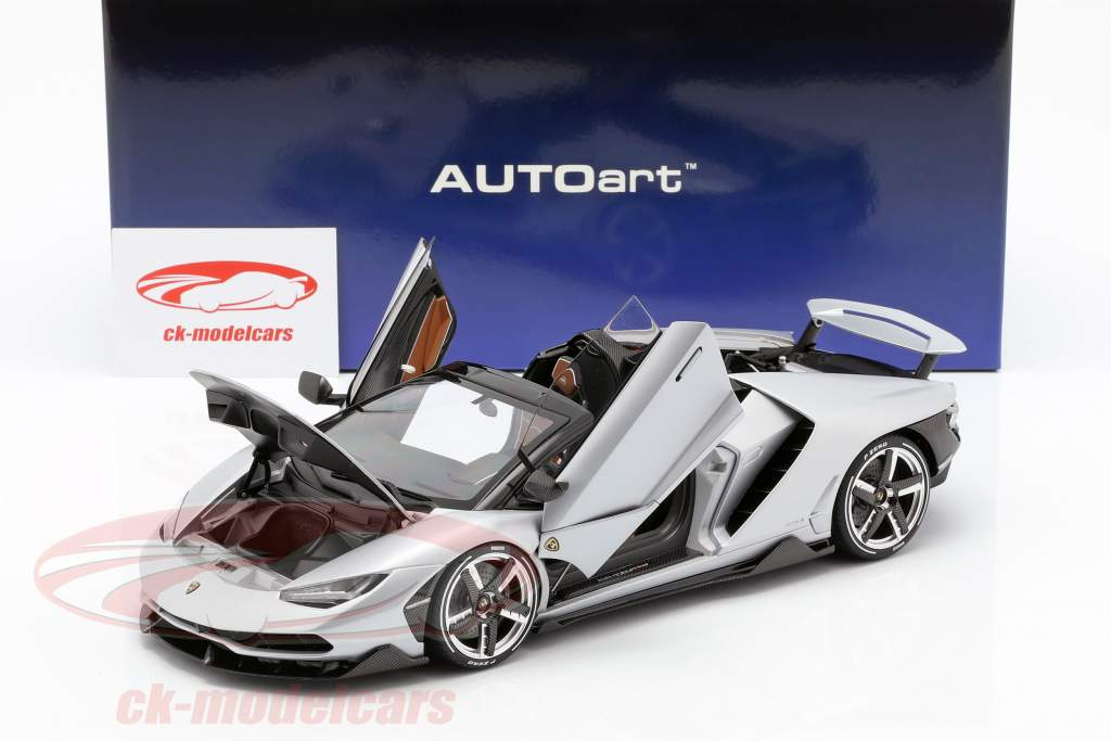 Lamborghini Centenario Roadster Opførselsår 2016 sølv 1:18 AUTOart