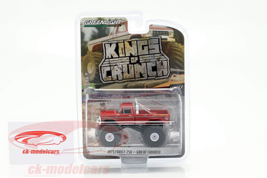 Ford F-250 Monster Truck God Of Thunder year 1979 red 1:64 Greenlight