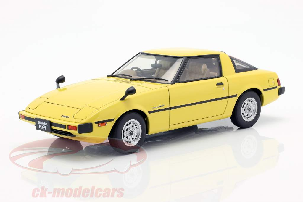Mazda Savanna RX-7 (SA) GT-Limited Opførselsår 1978 gul 1:18 AUTOart