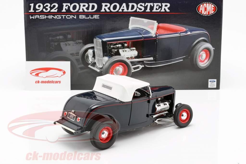 Ford Roadster año de construcción 1932 Washington azul 1:18 GMP