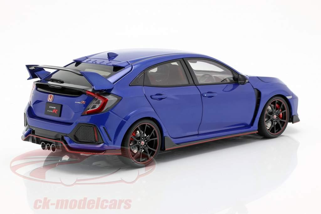 Honda Civic Type R (FK8) anno di costruzione 2017 blu metallico 1:18 AUTOart