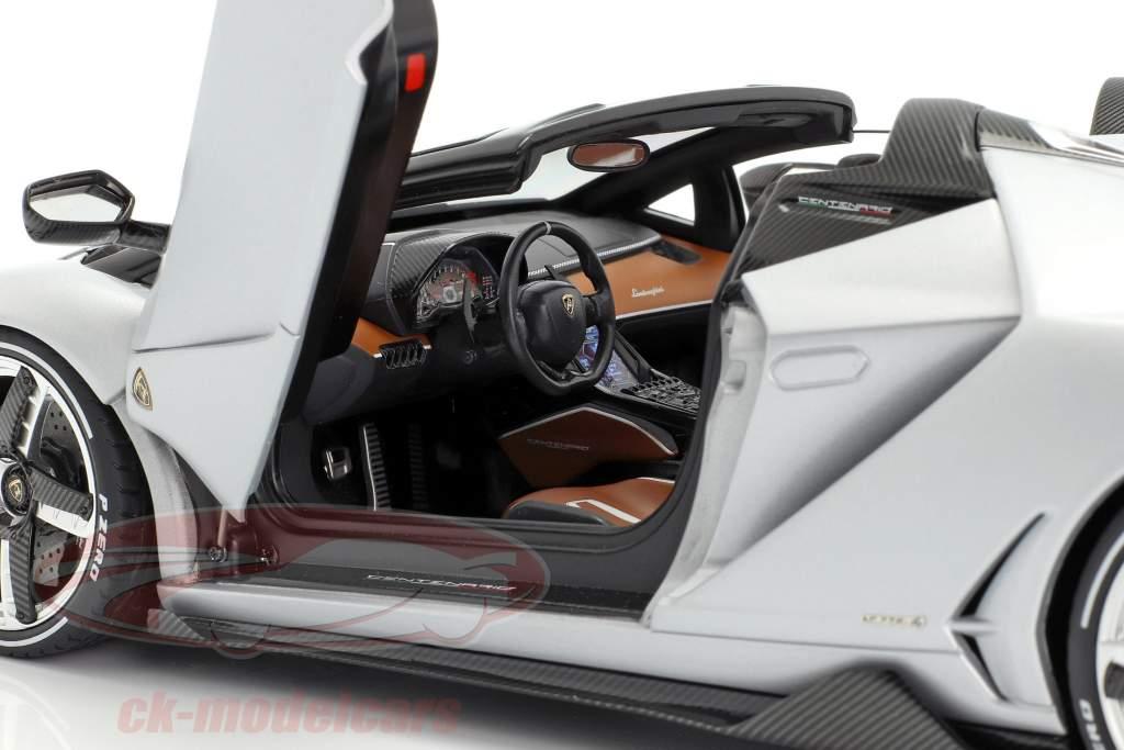 Lamborghini Centenario Roadster année de construction 2016 argent 1:18 AUTOart