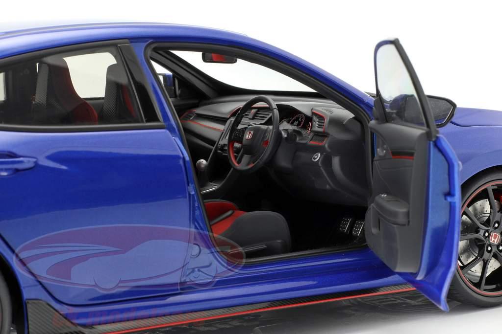 Honda Civic Type R (FK8) Opførselsår 2017 blå metallisk 1:18 AUTOart
