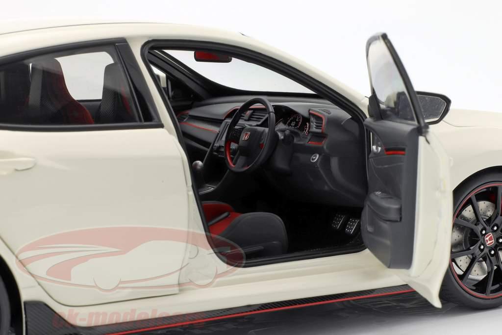 Honda Civic Type R (FK8) año de construcción 2017 blanco 1:18 AUTOart