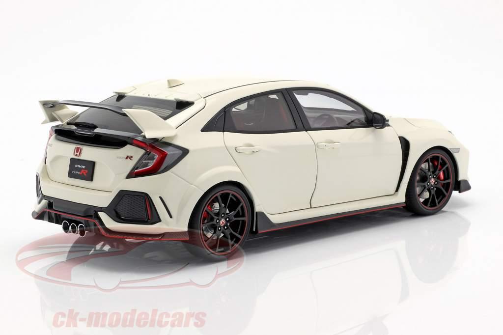 Honda Civic Type R (FK8) year 2017 white 1:18 AUTOart