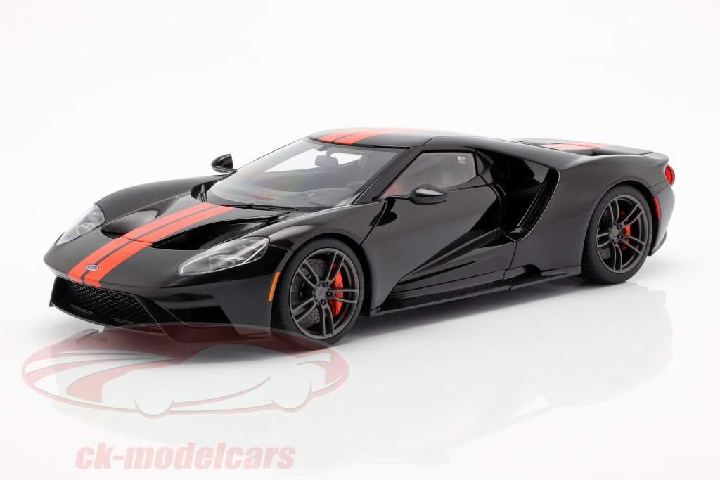 Ford GT year 2017 black / orange 1:18 AUTOart