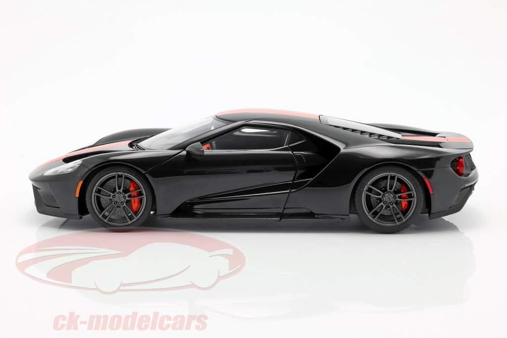 Ford GT Bouwjaar 2017 zwart / oranje 1:18 AUTOart