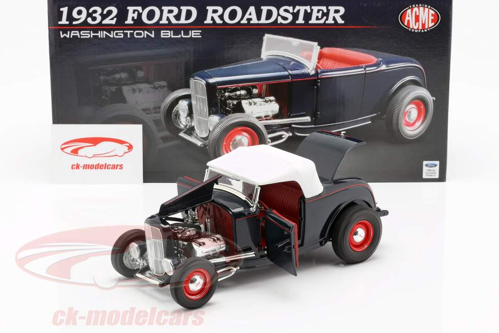 Ford Roadster year 1932 Washington blue 1:18 GMP