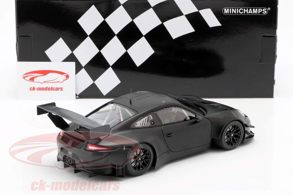 Porsche 911 (991) GT3 R Plain Body Version année 2018 tapis noir 1:18 Minichamps