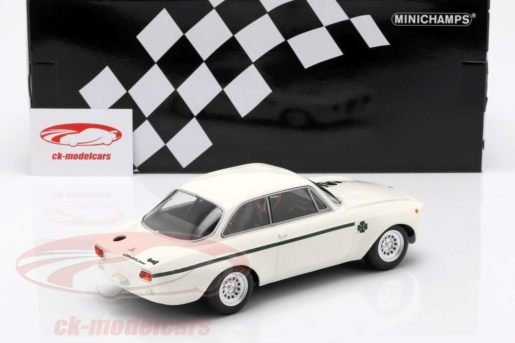 Alfa Romeo GTA 1300 Junior Bouwjaar 1971 wit / donkergroen 1:18 Minichamps