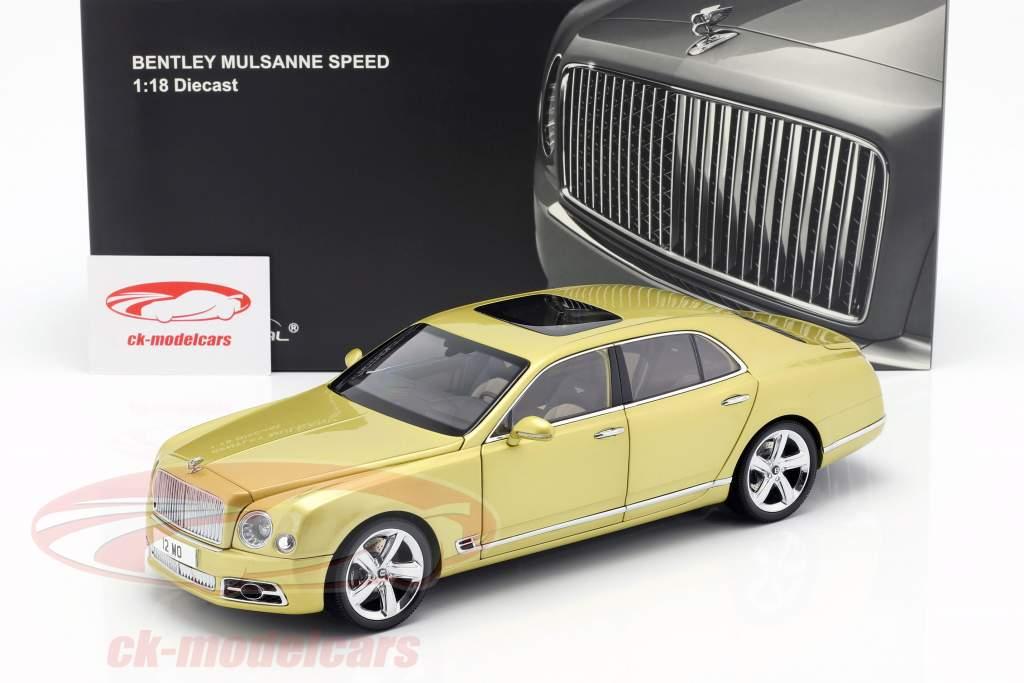 Bentley Mulsanne Speed ano de construção 2017 monaco amarelo 1:18 Almost Real