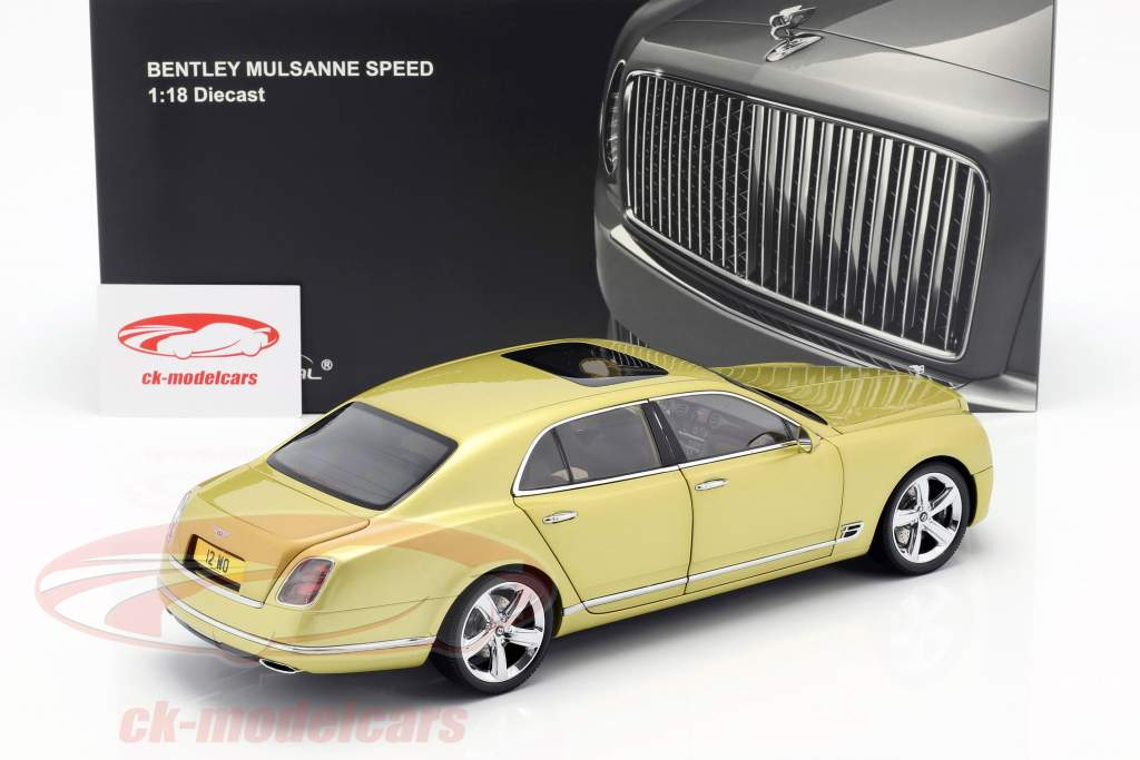 Bentley Mulsanne Speed Baujahr 2017 monaco gelb 1:18 Almost Real