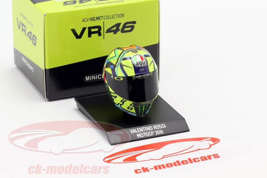 Valentino Rossi MotoGP 2016 AGV hjelm 1:10 Minichamps