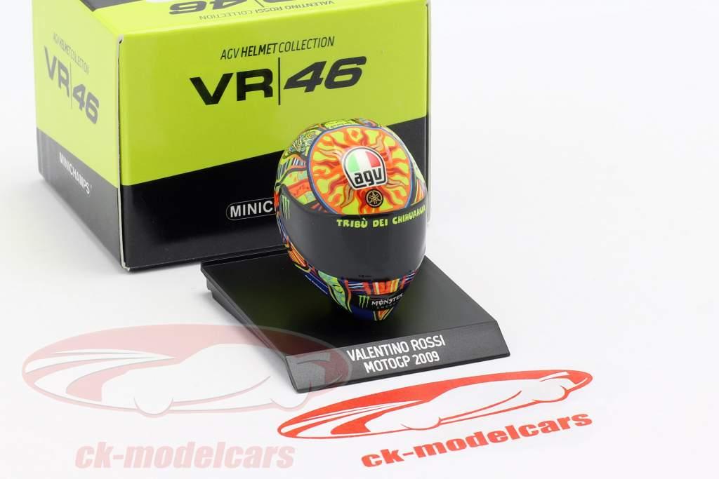 Valentino Rossi campeón del mundo MotoGP 2009 AGV casco 1:10 Minichamps