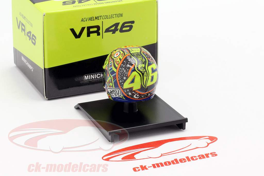 Valentino Rossi Weltmeister MotoGP 2009 AGV Helm 1:10 Minichamps