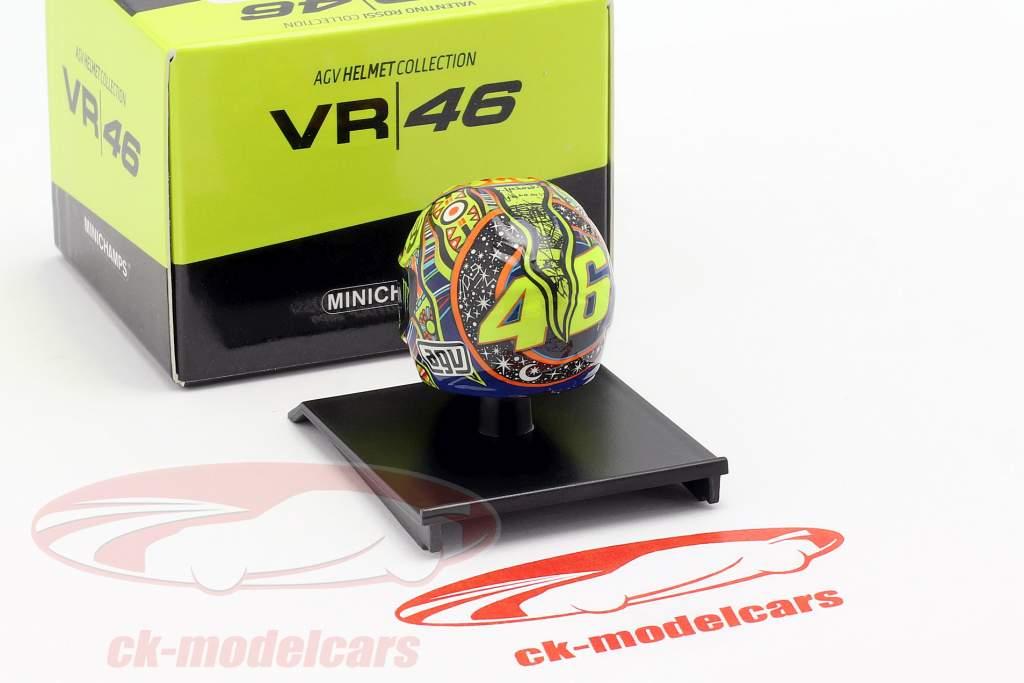 Valentino Rossi wereldkampioen MotoGP 2009 AGV helm 1:10 Minichamps