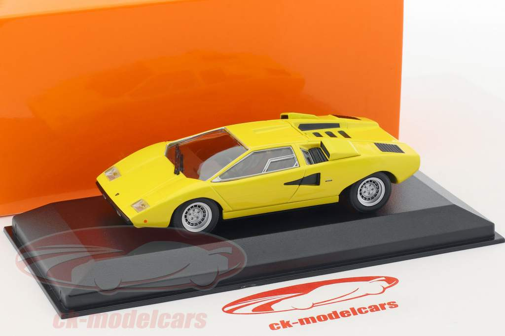 Lamborghini Countach Bouwjaar 1970 geel 1:43 Minichamps