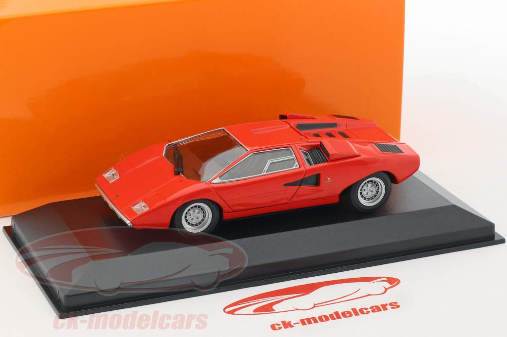 Lamborghini Countach Opførselsår 1970 rød 1:43 Minichamps