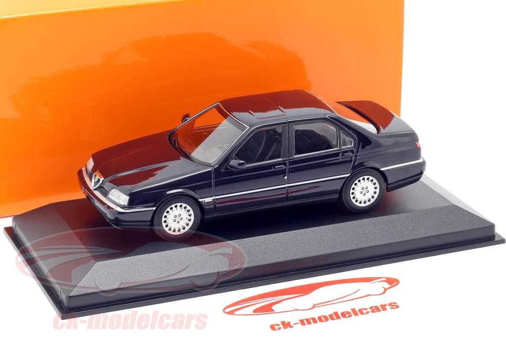 Alfa Romeo 164 3.0 V6 Super Bouwjaar 1992 blauw 1:43 Minichamps