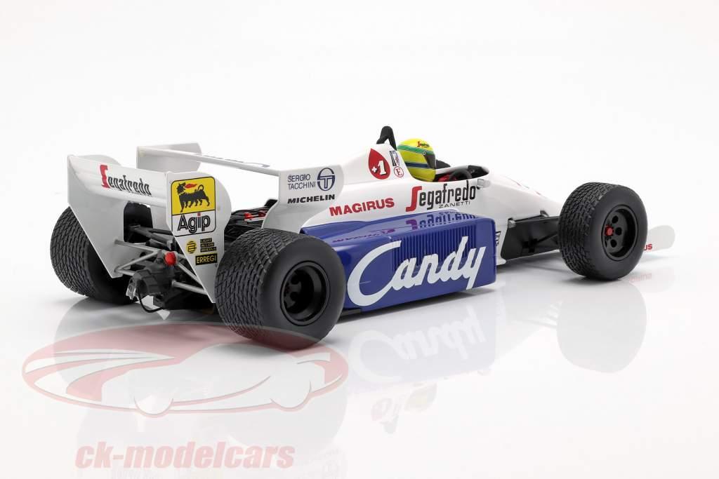 Ayrton Senna Toleman Hart TG184 #19 2e Monaco GP formule 1 1984 1:18 Minichamps