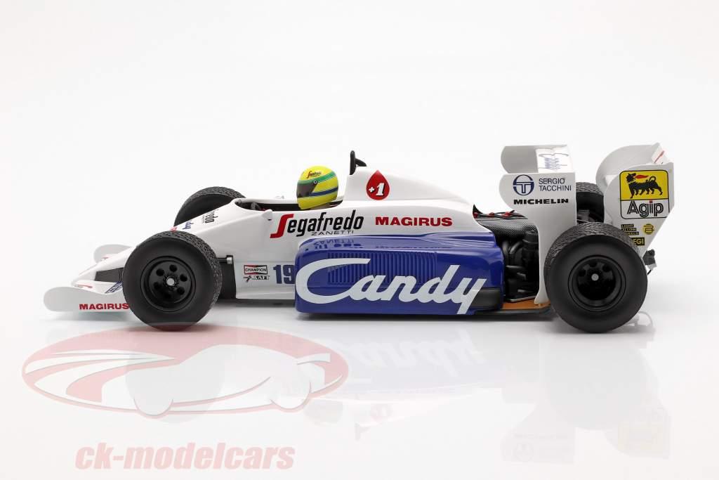 Ayrton Senna Toleman Hart TG184 #19 2nd Monaco GP formel 1 1984 1:18 Minichamps