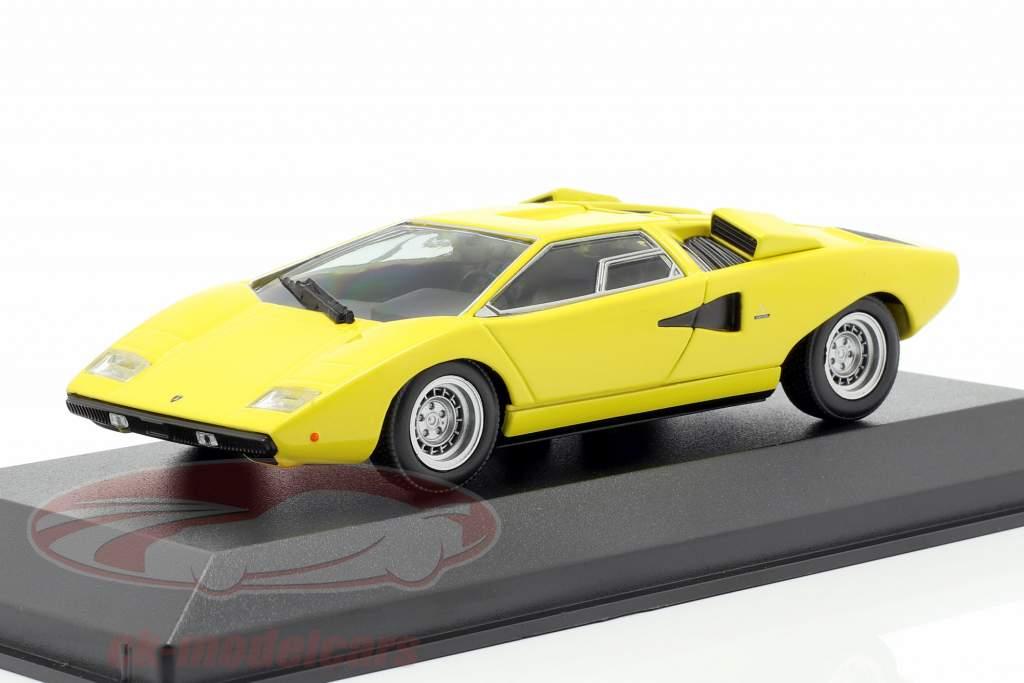 Lamborghini Countach Opførselsår 1970 gul 1:43 Minichamps