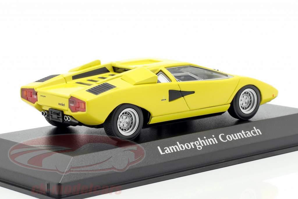 Lamborghini Countach año de construcción 1970 amarillo 1:43 Minichamps
