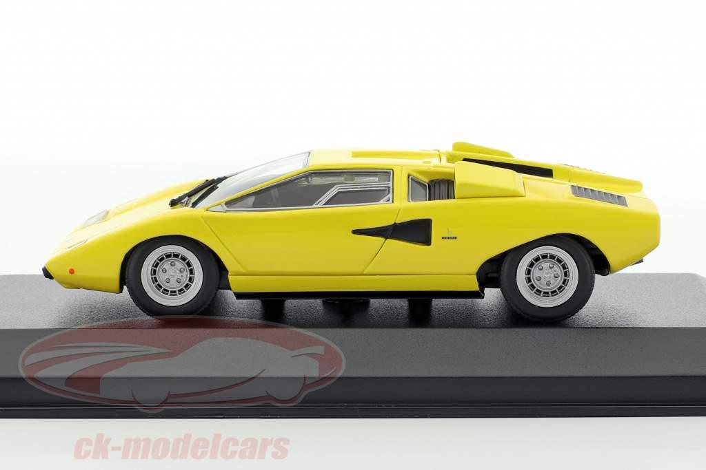 Lamborghini Countach year 1970 yellow 1:43 Minichamps