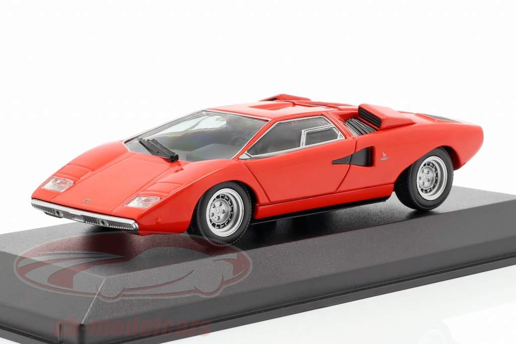 Lamborghini Countach ano de construção 1970 vermelho 1:43 Minichamps