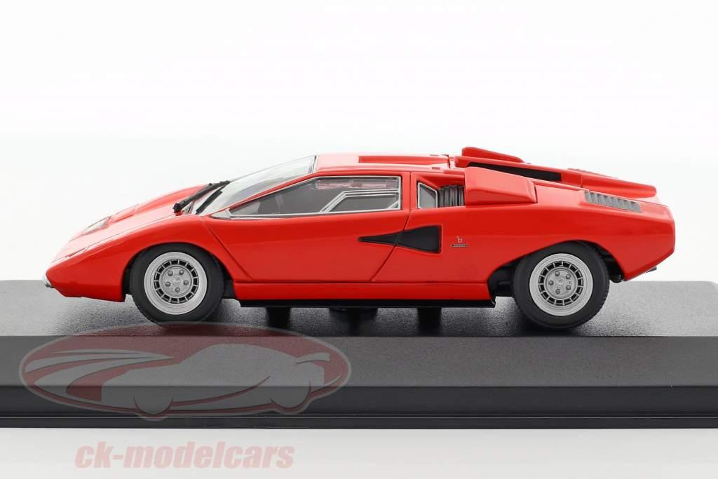Lamborghini Countach Bouwjaar 1970 rood 1:43 Minichamps