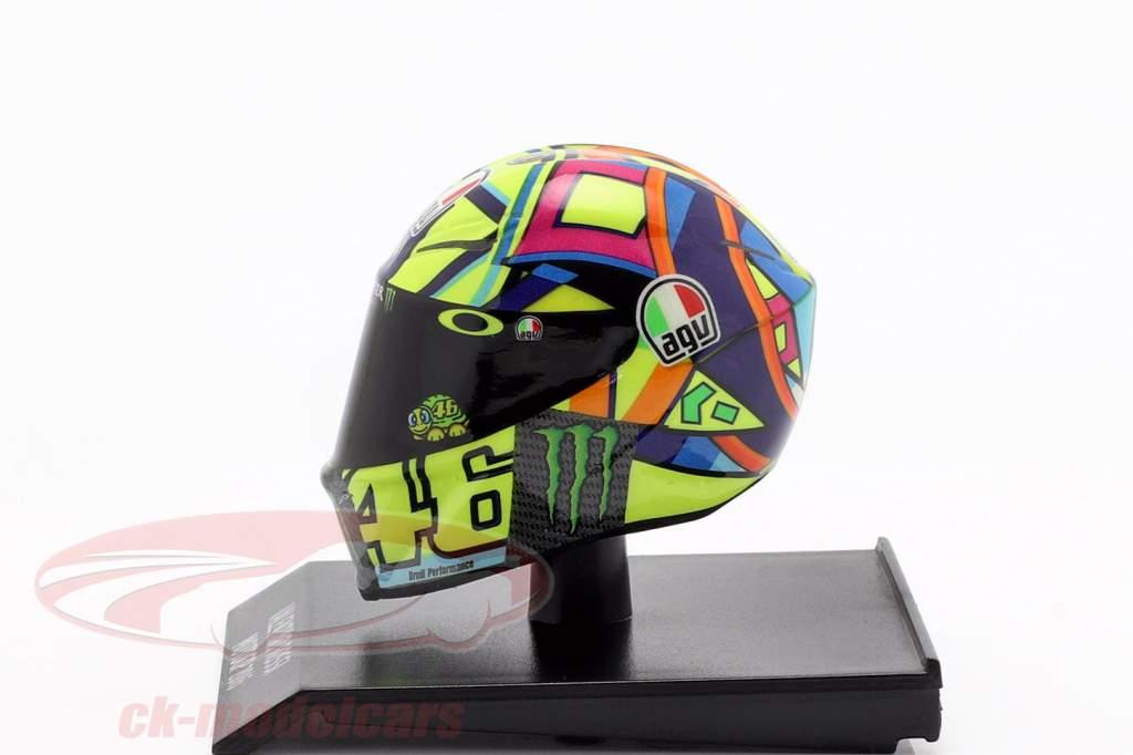 Valentino Rossi MotoGP 2016 AGV helmet 1:10 Minichamps