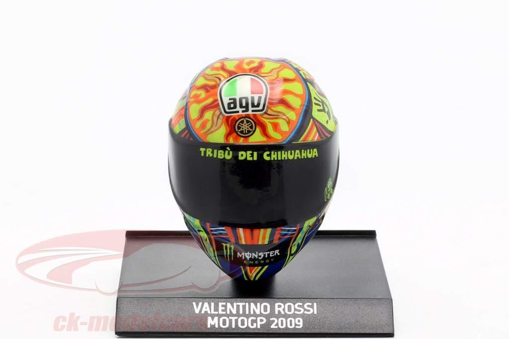 Valentino Rossi verdensmester MotoGP 2009 AGV hjelm 1:10 Minichamps