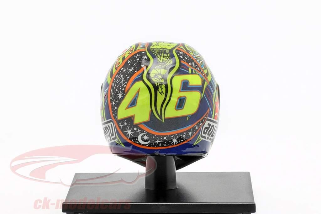 Valentino Rossi campeão do mundo MotoGP 2009 AGV capacete 1:10 Minichamps