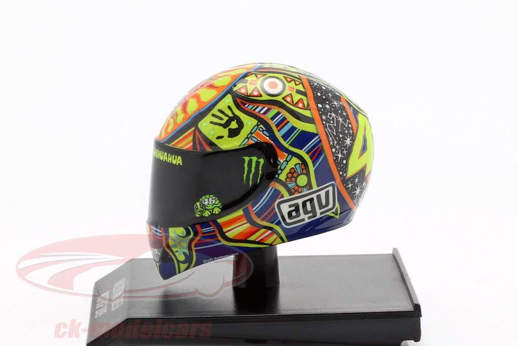 Valentino Rossi champion du monde MotoGP 2009 AGV casque 1:10 Minichamps