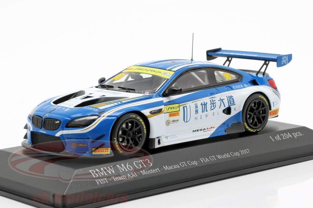 BMW M6 GT3 #90 5 ° Macau GT Cup 2017 Mostert 1:43 Minichamps