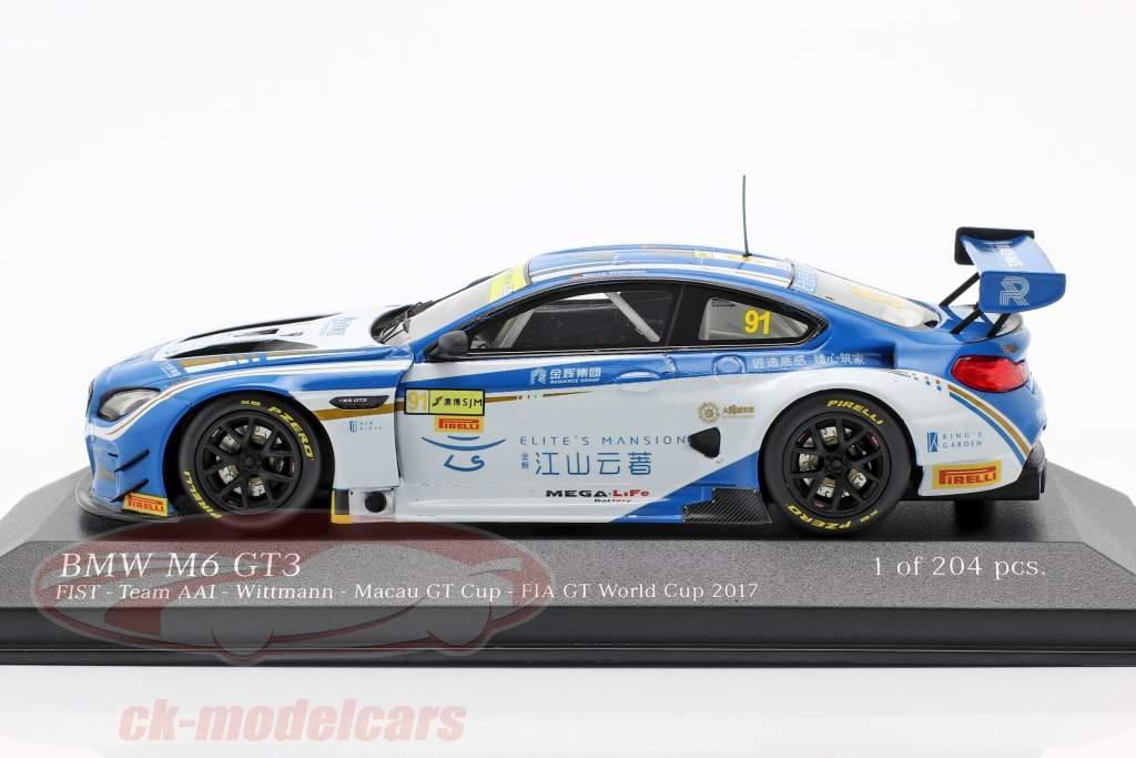 BMW M6 GT3 #91 Macau GT Cup 2017 Wittmann 1:43 Minichamps