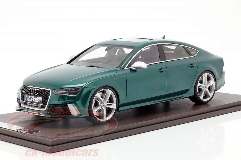 Audi RS7 Sportback Performance Bouwjaar 2016 groen 1:18 MotorHelix