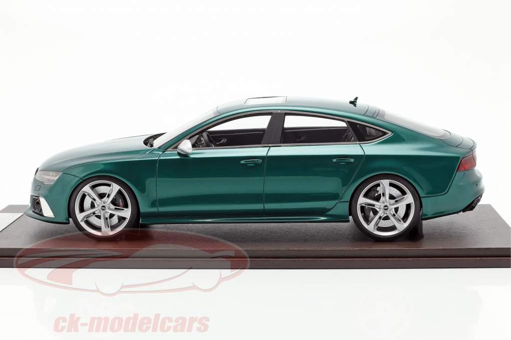 Audi RS7 Sportback Performance Baujahr 2016 grün 1:18 MotorHelix