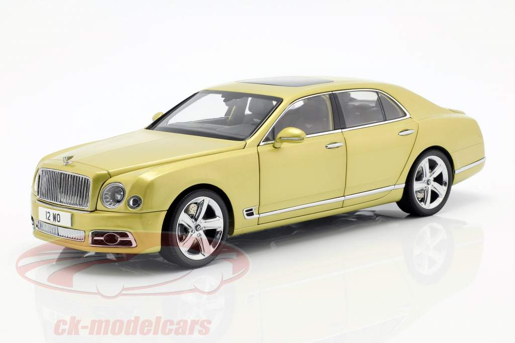 Bentley Mulsanne Speed année de construction 2017 Monaco jaune 1:18 Almost Real