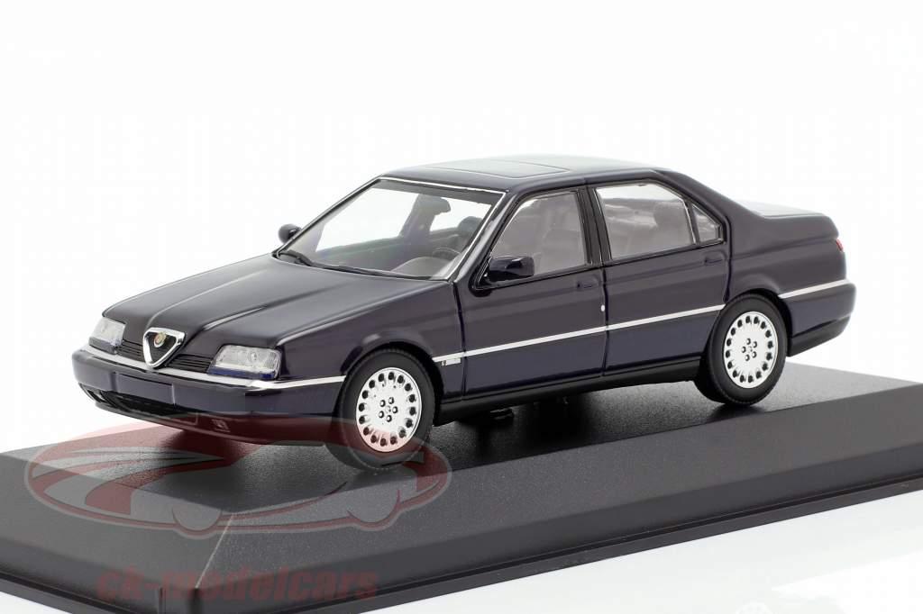 Alfa Romeo 164 3.0 V6 Super Opførselsår 1992 blå 1:43 Minichamps