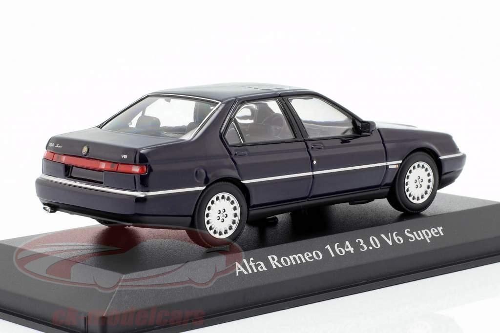 Alfa Romeo 164 3.0 V6 Super year 1992 blue 1:43 Minichamps