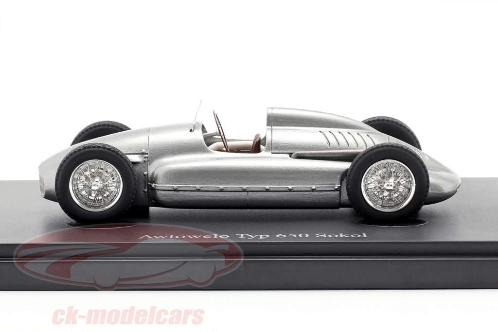 Awtowelo Typ 650 Sokol Baujahr 1952 silber 1:43 AutoCult