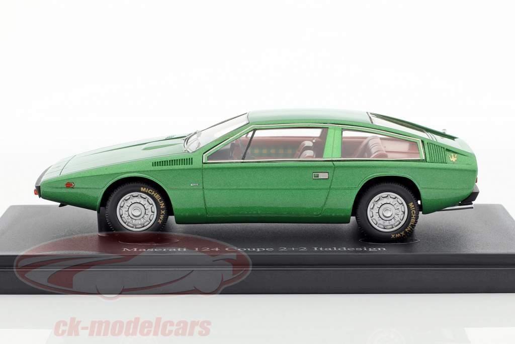 Maserati 124 Coupe 2+2 Italdesign Baujahr 1974 grün 1:43 AutoCult