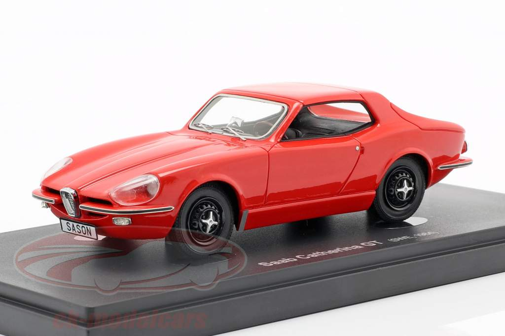 Saab Catherina GT Opførselsår 1964 rød 1:43 AutoCult