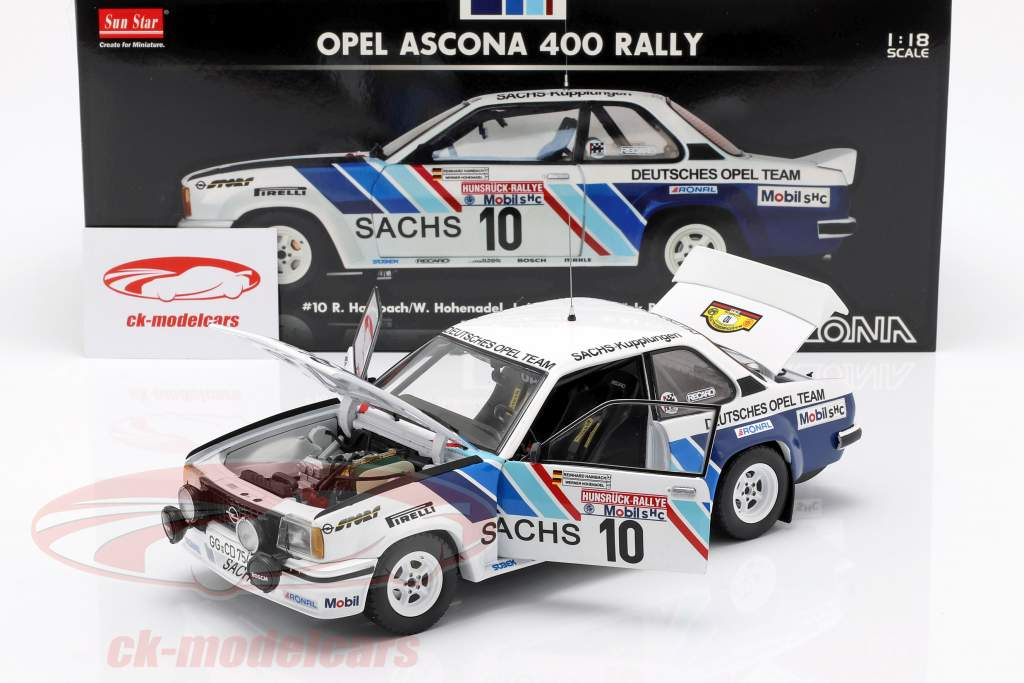 Opel Ascona 400 #10 Rallye Hunsrück 1980 Hainbach, Hohenadel 1:18 SunStar