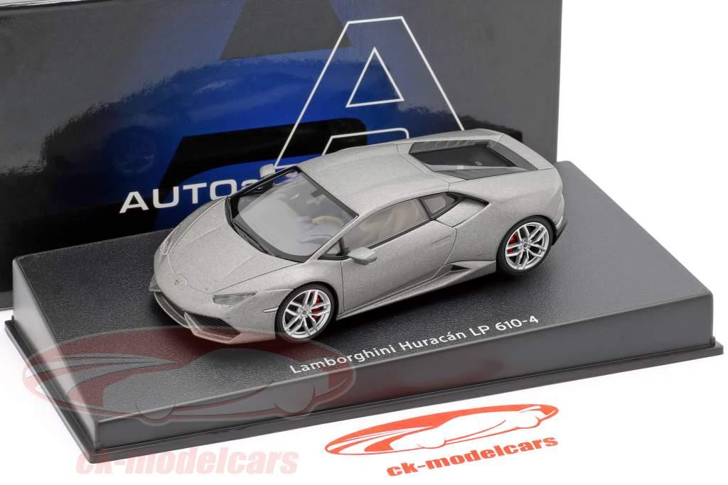 Lamborghini Huracan LP610-4 Jaar 2014 mat grijs 1:43 AUTOart