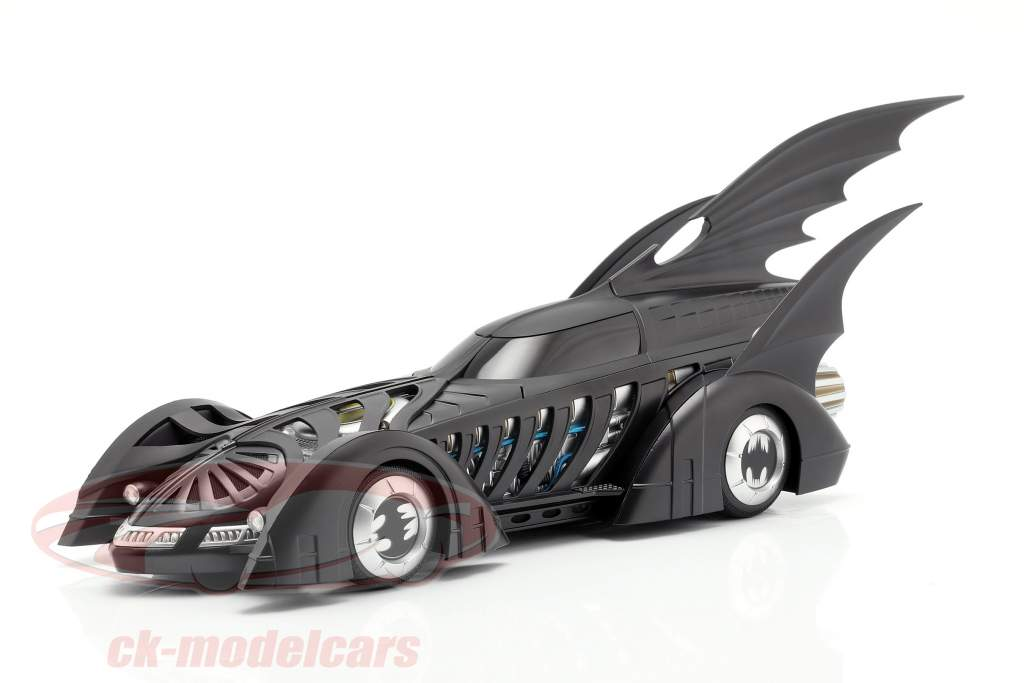 Batmobile Batman Forever Movie 1995 matt black 1:18 HotWheels Elite