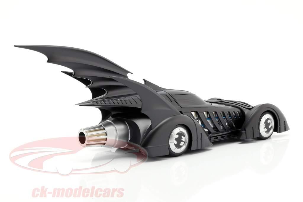 Batmobile Batman Forever Film 1995 mat sort 1:18 HotWheels Elite
