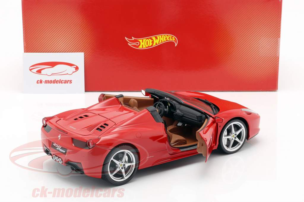 Ferrari 458 Italia Spider Bj. 2011 vermelho 1:18 HotWheels Heritage