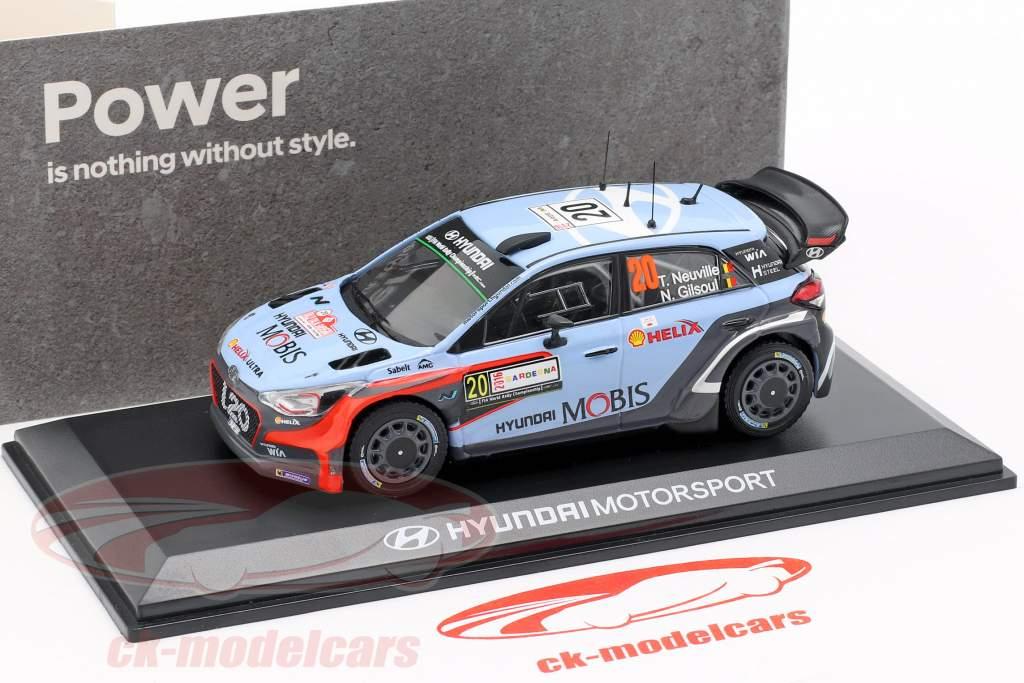 Hyundai i20 WRC #20 Winner Rallye Italia Sardegna 2016 Neuville, Gilsoul 1:43 Ixo